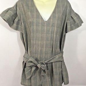 Women's Glenplaid Cap Sleeve Tunic